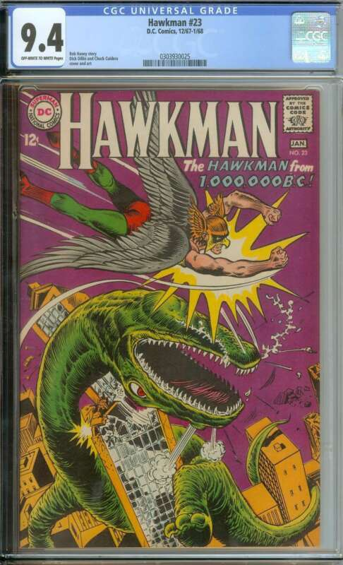 HAWKMAN #23 CGC 9.4 OW/WH PAGES