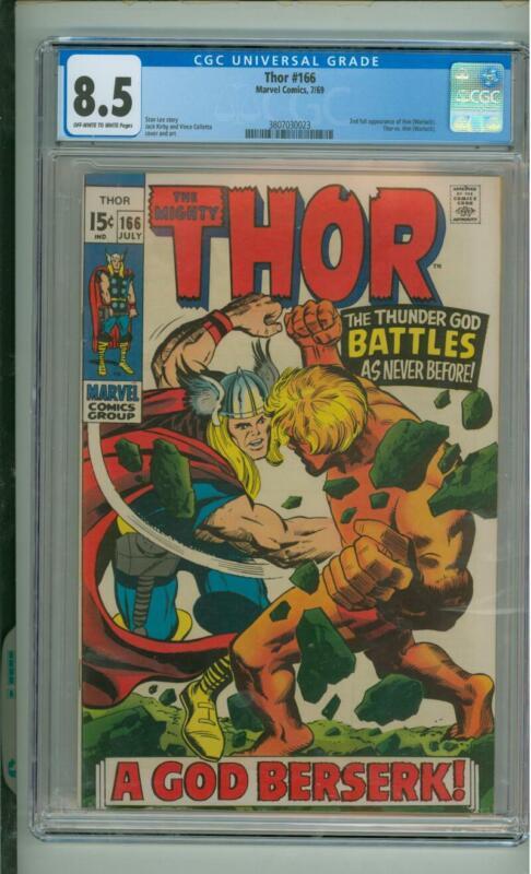 Thor  #166 CGC 8.5 2nd App Of Him (Warlock) 1969