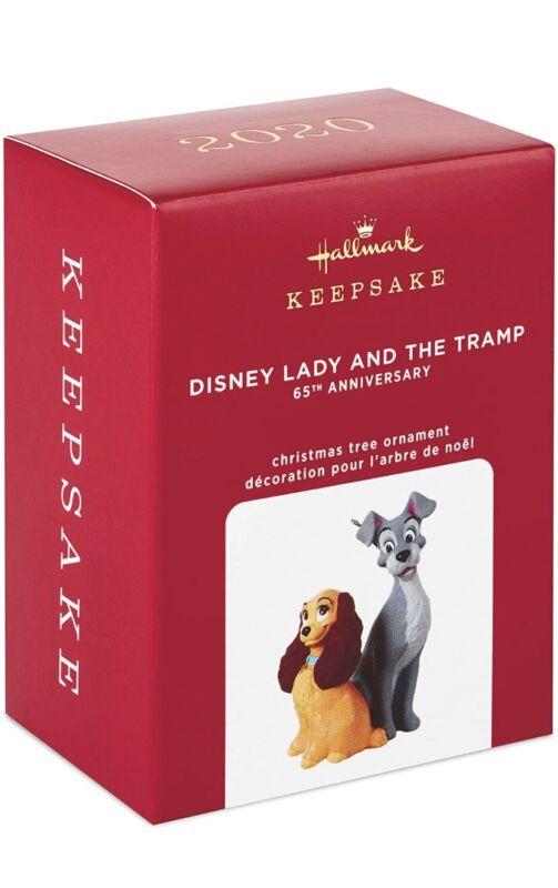 "2020 Hallmark Ornament ~ ""Disney Lady And The Tramp"" ~ 65th ANNIVERSARY ~ NEW"
