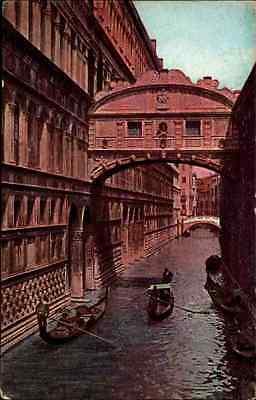 Venezia Venedig Italy Italien ~1910 Gondel Brücke Bauwerk Cartolina Italiana
