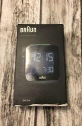 Braun BNC008BK LCD White Quartz Alarm Clock