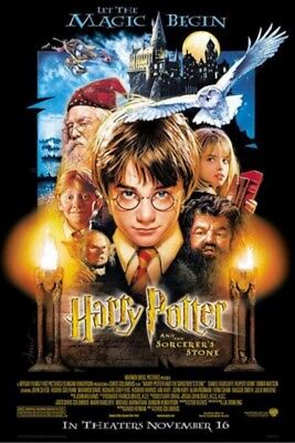 HARRY POTTER AND THE SORCERER'S STONE Movie Poster - Cast Full Size 27x39