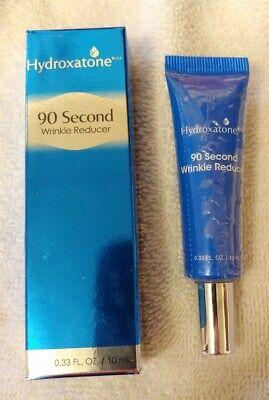 Hydroxatone 90 Second Wrinkle Reducer 0.33 Fl. Oz New Tube Sealed