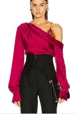 Jonathan Simkhai size M dropped shoulder blouse in Siren Red
