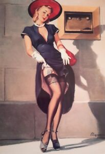 VINTAGE GLAMOUR PIN UP GIRL MONEY GIL ELVGREN A4 POSTER PICTURE PRINT A4 WALL