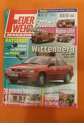 Feuerwehr Magazin   Nr. 4 April  1999