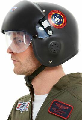 Top Gun Helmet Deluxe Licensed Pilot Fancy Dress Costume Accessory Adults