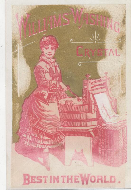 C9787 VICTORIAN TRADE CARD WILLIAMS WASHING CRYSTAL  SOAP