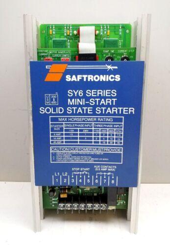 SAFTRONICS SY6-18 18 AMP SOLID STATE MOTOR STARTER