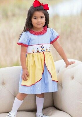White Nightgown Halloween (Shrimp & Grits 4T Smocked Snow White Princess Dress Disney Halloween)