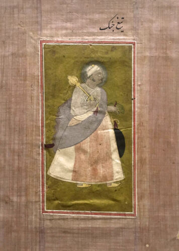 Antique Islamic 18 - 19th Century Mughal India Miniature Painting & Calligraphy