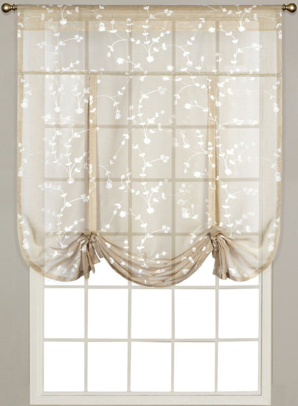 Hanging A Shower Curtain Rod Semi Sheer Tie Up Balloon Cur