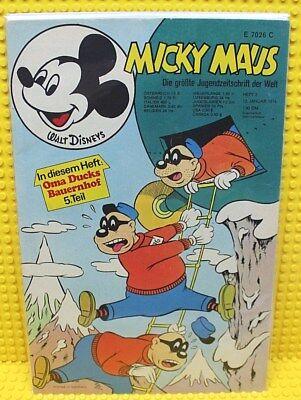 Walt Disney® Micky Maus Nr 2 von 1974 mit Gutschein und Sammelbild Beilage