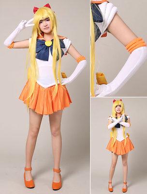 Sailor Moon Sailor Venus Aino Minako Halloween Cosplay Costume adult Anime MANGA