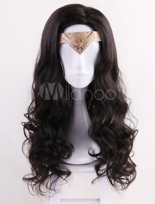 2019 Film The New Curls Wonder Woman Cosplay Wig Halloween(Wigs only available) ()