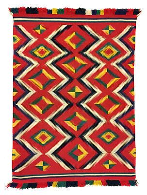 "Navajo Germantown Blanket, circa 1890, 64"" x 46.5"""