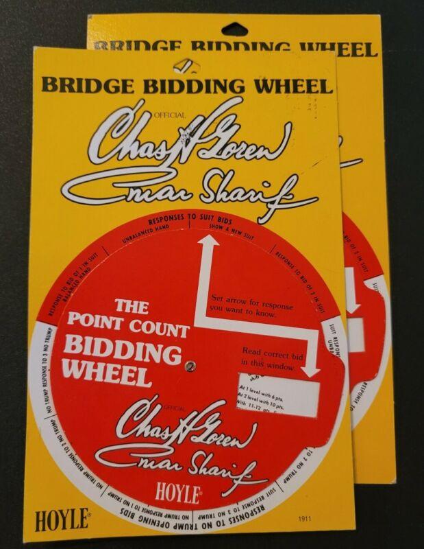 Omar Sharif Vtg LOT of 2 Hoyle Bridge Wheels 1979 Ashanti Bloodline  1970s