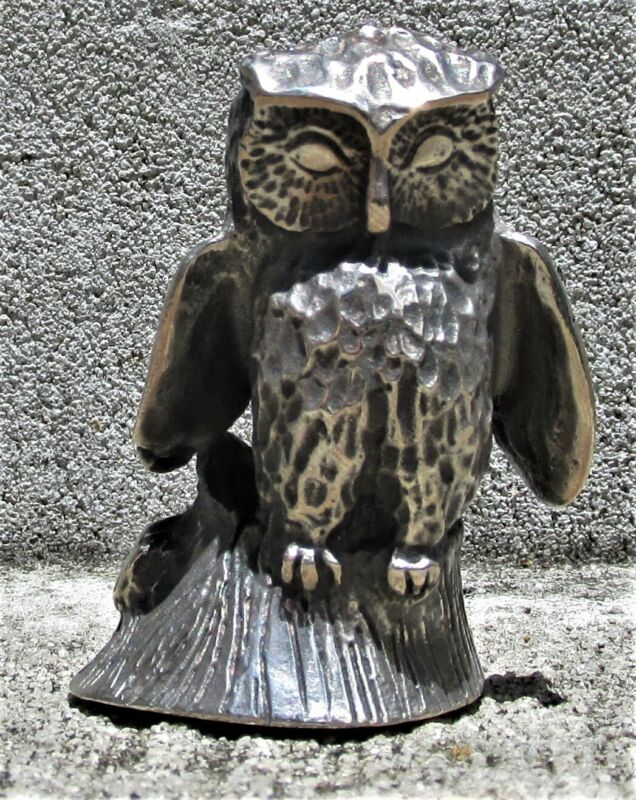 """KIRK & SON Solid Cast Sterling Miniature """"Owl"""""""