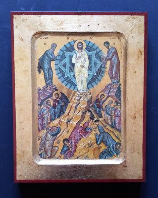 Byzantine Greek Russian Orthodox Lithography Icon Transfiguration Of Christ14x18