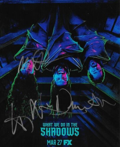 * WHAT WE DO IN THE SHADOWS * signed 8x10 photo * PROKSCH, NATASIA & GUILLEN * 1