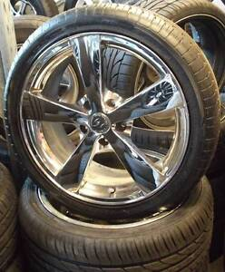 """18"""" Rodney Jane Chrome Alloys With New Tyres To Suit Commodore Toowoomba Toowoomba City Preview"""