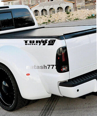 TURBO DIESEL Truck FORD F250 F350 F450 Dually Lariat XLT XL 4x4 Decal sticker B