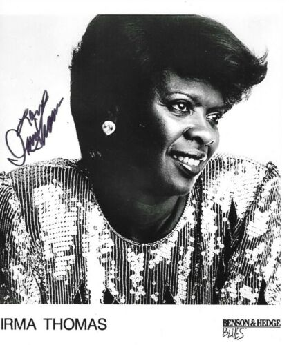 * IRMA THOMAS * signed 8x10 photo * SOUL QUEEN OF NEW ORLEANS * COA * 5