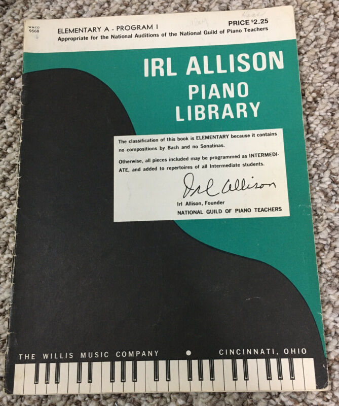 Irl Allison Piano Library Elementary A Program 1 WMCO 9568