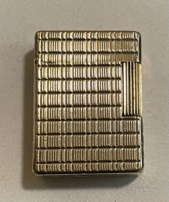 Vintage Cigarette Lighter ST Dupont 20u (microns) Gold Plated Paris France Works