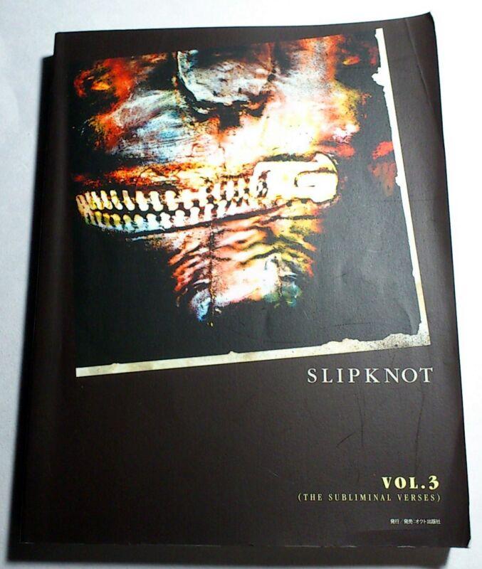 SLIPKNOT VOL.3 BAND SCORE JAPAN GUITAR TAB