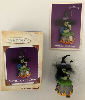 2004 HALLMARK HALLOWEEN ORNAMENT - MATILDA. THE COOK - MIB with Memory Card