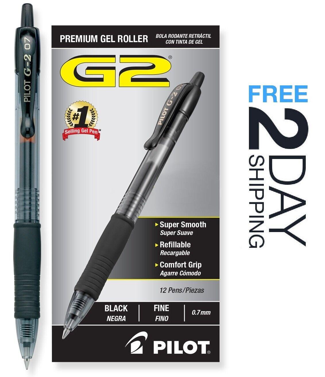 Pilot G2 0.7mm 07 Archival Black Fine Gel Ink Rolling Ball P