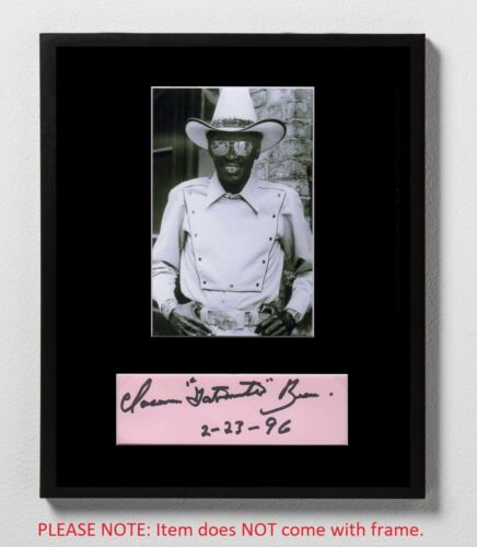 """Clarence """"Gatemouth"""" Brown Autographed Mat Piece! Blues Icon! Alright Again!"""