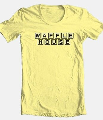 Waffle House T Shirt Retro 1980S Fast Food 100  Cotton Graphic Mens Tee