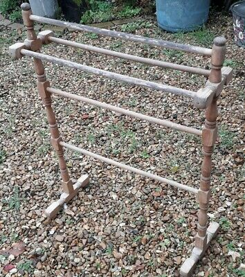 Lovely Rare Antique Wooden Towel Rail Stand
