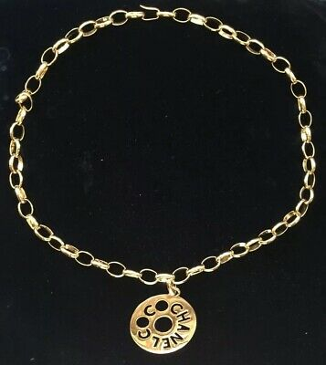 "CHANEL Kette / Gürtel mit ""Coco Chanel"" Medallion, Vintage 1980s, Gold Plated"