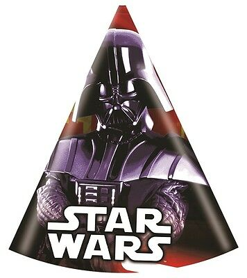 Star Wars | Darth Vader Party Hats | Favours 1-48pk