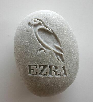 Parrot Pet Memorial Custom Engraved Memorial Stone Pet Loss Personalized Bird - CA$30.00