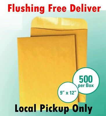 Local Pickup Only 500 9x12 Kraft Catalog Seam 28lb Brown Craft Envelope