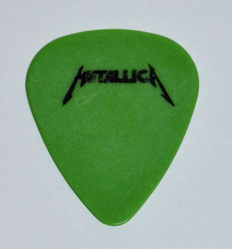 Metallica James Hetfield Guitar Pick~1988 Damaged Justice Tour~Green SingleSided