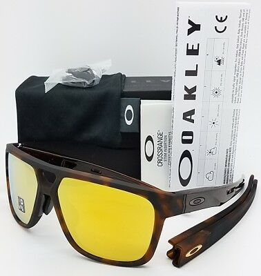 5ecda6c821508 NEW Oakley Crossrange Patch Asian Fit sunglasses Matte Tort 24K 9391-0160  Gold