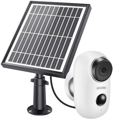 ZOSI 1080P Cámara de Vigilancia WiFi IP Exterior Batería Recargable Panel Solar