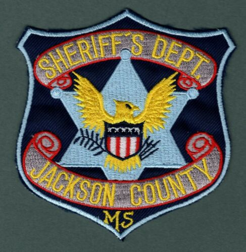 Jackson County Mississippi Sheriff Police Patch  *Cut Border*