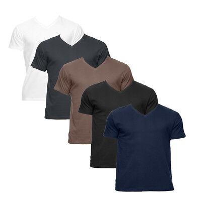 Econscious Men's 100% Organic Cotton Short-Sleeve V-Neck T-Shirt 4.4