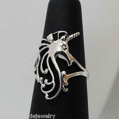 Unicorn Ring - 925 Sterling Silver - Unicorn Ring Fantasy Fairy Tale Mystic NEW - Unicorn Ring