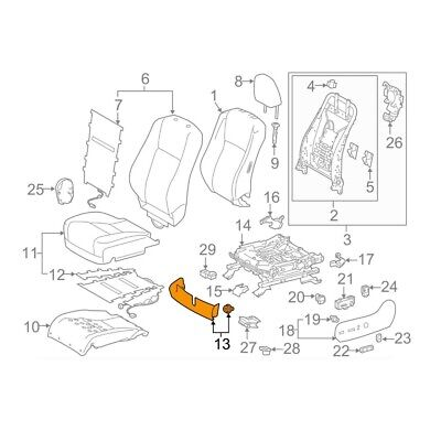 For Toyota Genuine Seat Frame Trim Panel Front Left 718680E090B0