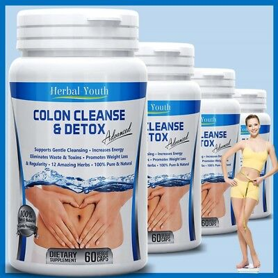 - COLON CLEANSE CAPSULES 2000mg DAILY WEIGHT LOSS DIET DIETARY FIBER DETOX PILLS