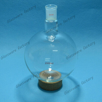 2000ml2440 One Neck Round Bottom Flask1 Neck Boilling Bottlelab Glassware