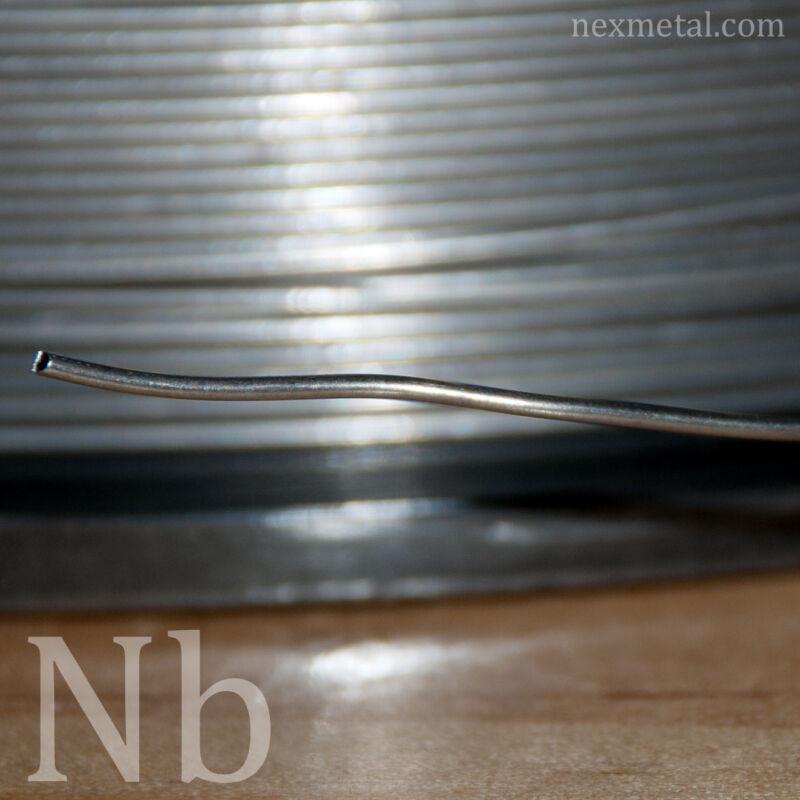 10 feet Nb1 Niobium wire 0.8mm (20 gauge) 99.99 pure Nb wire annealed smooth