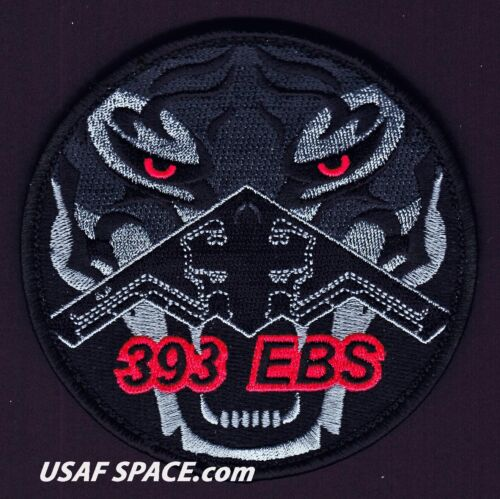ORIGINAL USAF 393rd EXPEDITIONARY BOMB SQ - B-2 STEALTH - TIGER - DEPLOYED PATCH